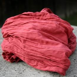 ruènì barvená bavlnìná šála - zvìtšit obrázek