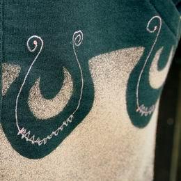 tošku vlnková mikina s kapucí ruènì malovaná
