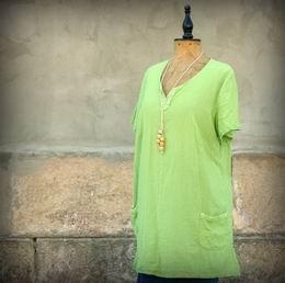 zelená maèkaná tunika