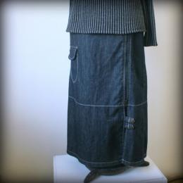 riflová suknì se zipem a kapsami - zvìtšit obrázek