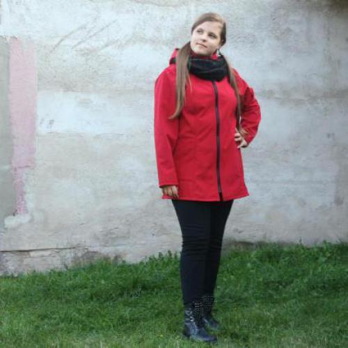 SOFTSHELLOVÁ PRINCESOVÁ BUNDA s odepínací kapucí