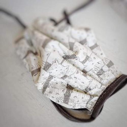 Bavlnìná rouška s kapsou na filtr koèky - zvìtšit obrázek